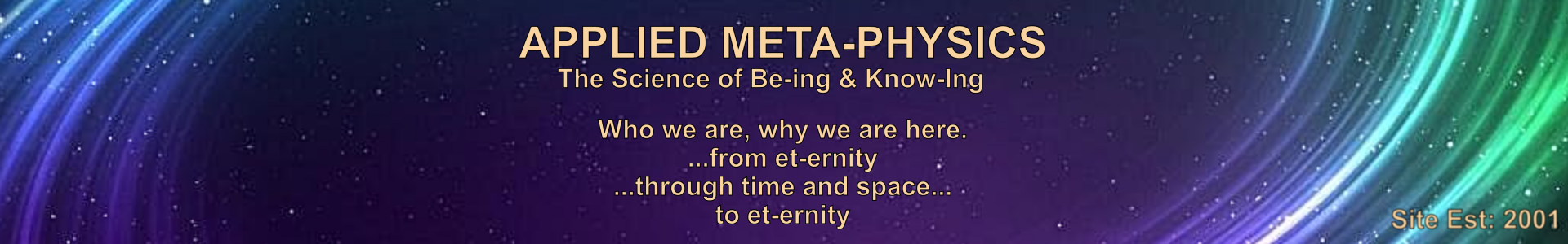 Applied Meta-Physics the Science of